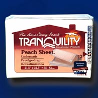 Tranquility 2074 Peach Sheet Underpads-96/case